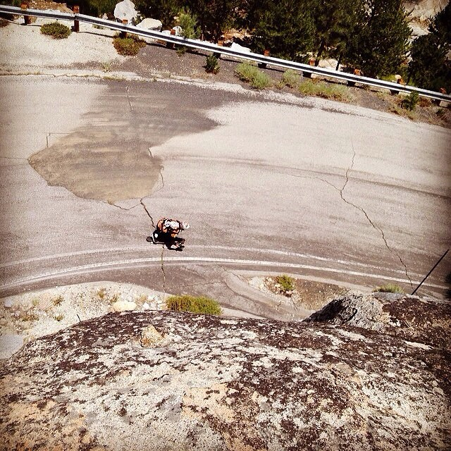 Chad Lybrand--@ragnars_world finds the line.  #chadlybrand #bonzing #urbanshredsled #downhill #skateboarding #skateeverything