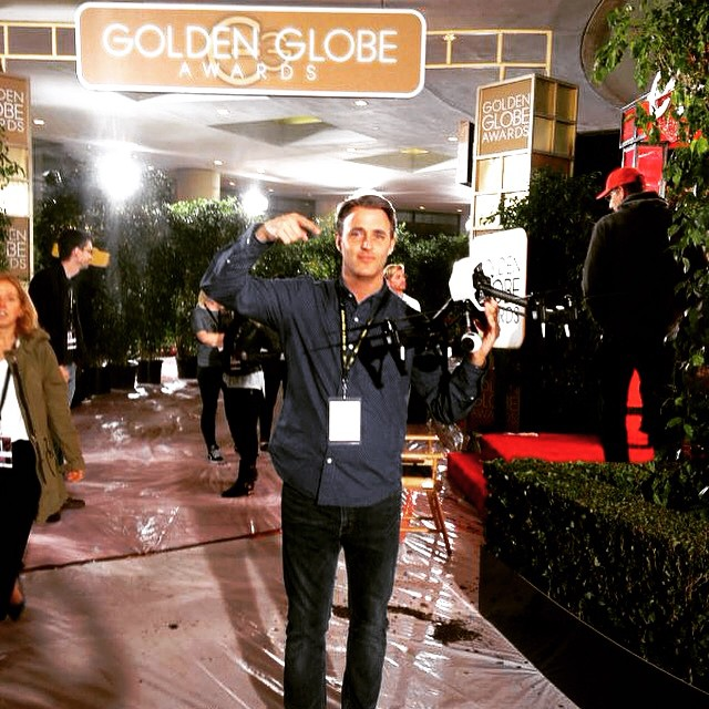 From #ces2015 to the #goldenglobes, team #DJI never sleeps... @benmulroney from @etalkctv discovering #4k freedom  #aerial #aerialtechnology #inspire1