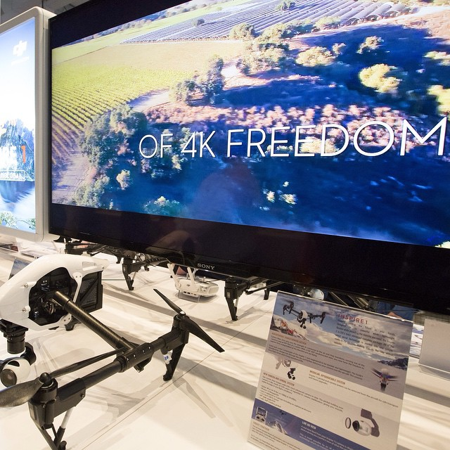 #4k freedom! The world of #aerial 4k is here with the #inspire1.  More snapshots of the #DJI booth at #CES2015  LVCC, South Hall 2, Booth 25614