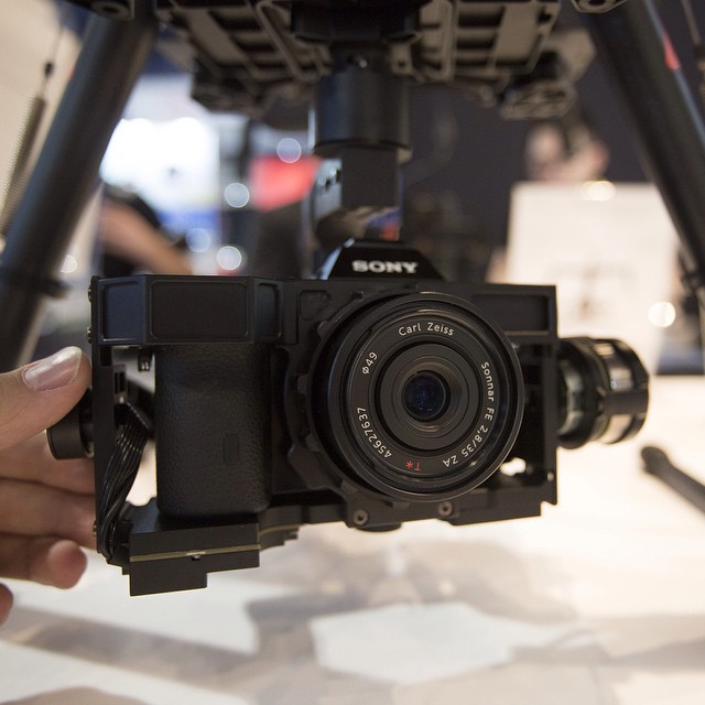 Announced at #CES2015: The #Sony A7 gimbal.  Visit us at CES: LVCC South Hall 2, Booth 25614 #DJI #S900 #DJICreator