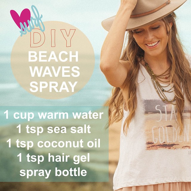 DIY Beach Waves Spray! Why spend money on expensive hair products when you can make it yourself! #diy #beachhairdontcare #wavyhair #katherinebethphotography