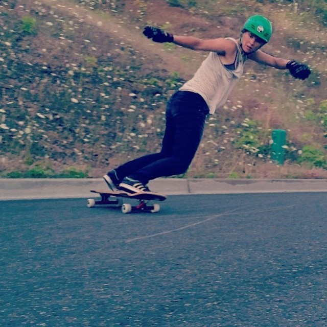 @fillbackside switch backside shot by @carmen_sutra.  #longboardgirlscrew #girlswhoshred #aliciafillback