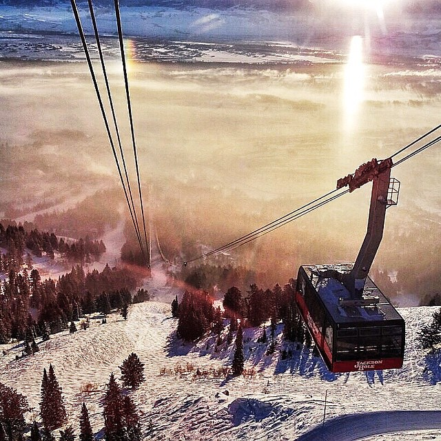 Magic moments on the @jacksonhole Tram.  #avalon7 #thegatewaysareeverywhere www.avalon7.co