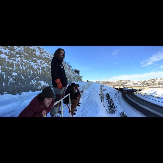 #Smokinteamtrip2015 @_willbateman @nial_romanek @matt_busedu @wyld_instinct @snowboardermag @budfawcett @_swells_ @rakejose421 #forridersbyriders #HandMadeLakeTahoe #OK