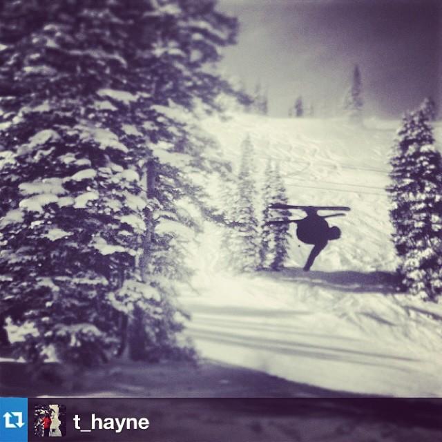 TM/VM @austinramaley gettin upside down at @altaskiarea today. Photo by team rider @t_hayne #riderownes