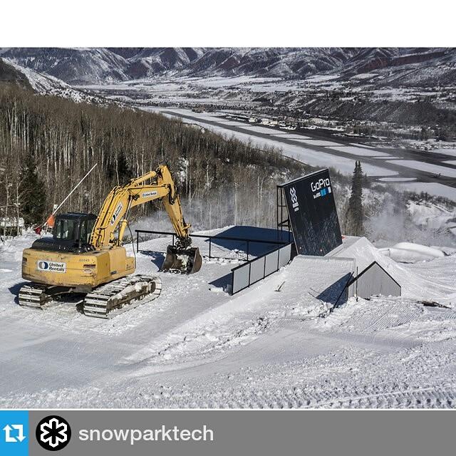 #Repost @snowparktech ・・・ @XGames Slopestyle Feature #2 (p. @silvaemichael) | #XGames #Aspen #GoPro #SnowParkTech