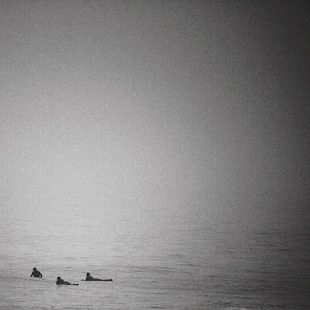 New England day at the beach. #coldwatersurf #fog #waitinggame #newengland