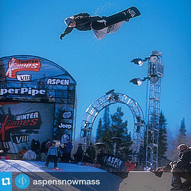 #Repost @aspensnowmass ・・・ #TBT of @rosspowers with his first hit method @xgames Aspen 2004.