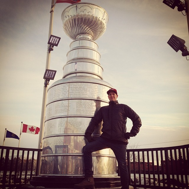 The Stanley Cup looks a lot smaller on TV @unitedcycle #everythingisbiggerincanada #edmontonlife