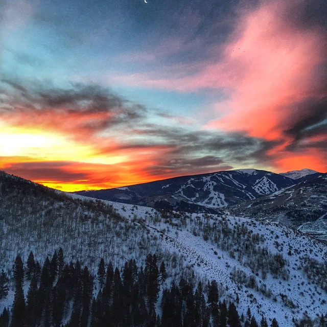 Quite the sunrise this morning in the Colorado Mountains! #coloradopics #beavercreek #bclive