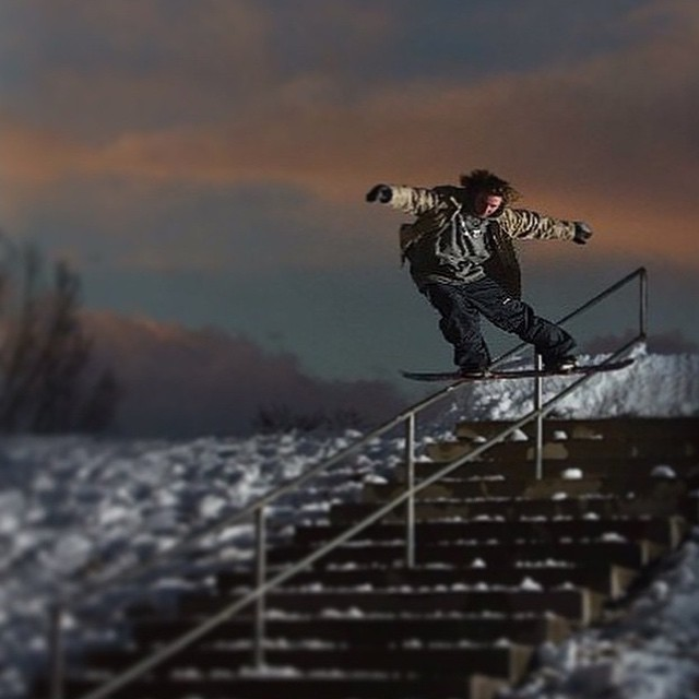 @lukehaddock laying one down proper on a Friday.  Who's going shredding this weekend?  Photo care of @cakeatr