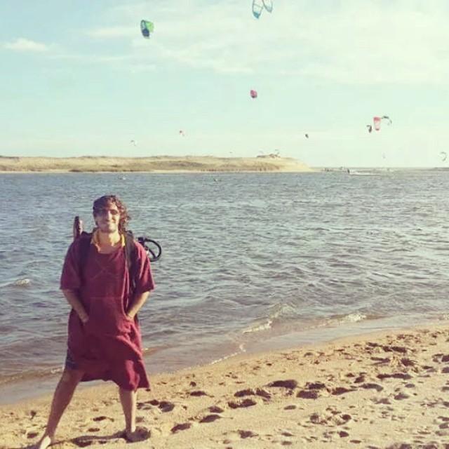 Sopla en La Laguna, y ahí está @gabisterin con su mandarina!
