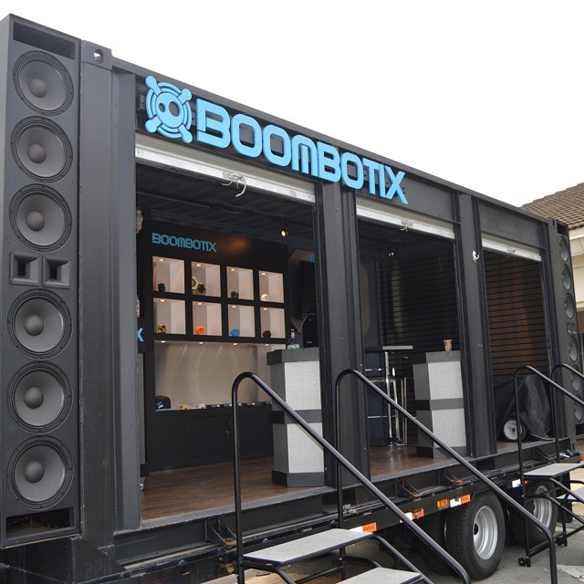 Turned a storage container into a mobile showroom. Where will it go next? #staytuned  #popup #shop #boomtruck #bigrigs #boombotix