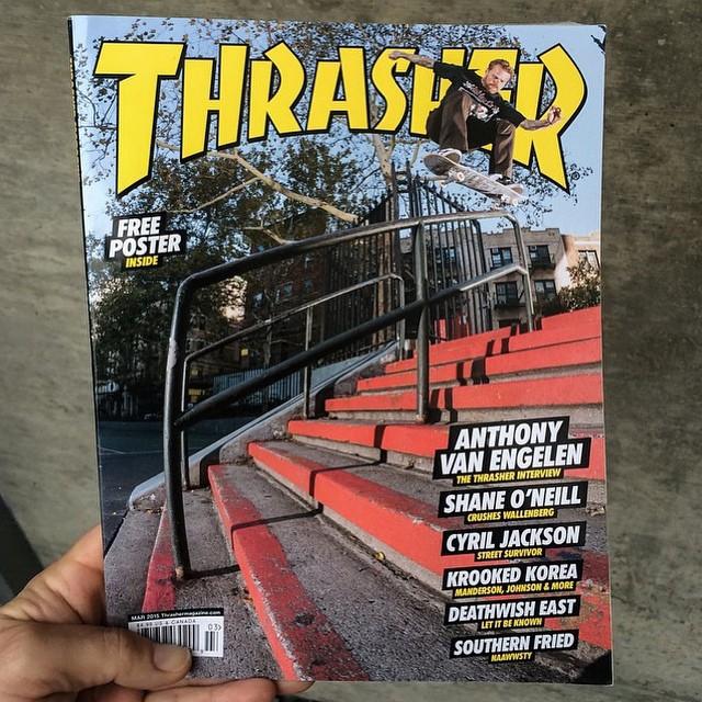 @ave en la tapa de la @thrashermag que sale en marzo. Groso. #skate #vans