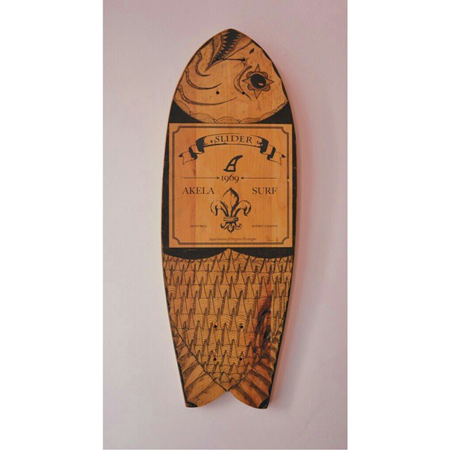 #AkelaSurf  Deck in Collaboration with  Maxime Solana  #fashion