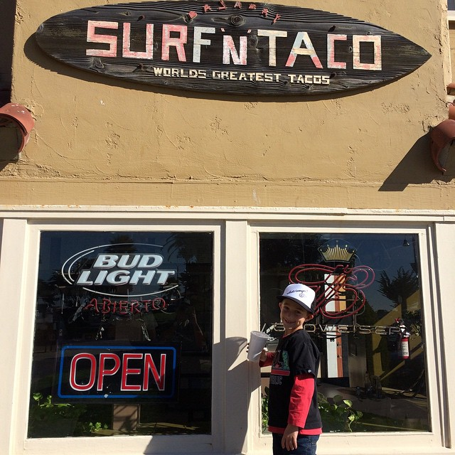 Second stop Surf n Taco in Ventura for Shark Tacos. Best fish taco ever!  So stoked!  #surfntaco #ventura #sharktaco