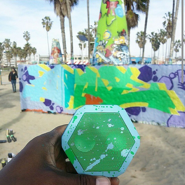 @bukueone revamped his REX with a splash of color #coordination #losangeles #venicebeach #graffiti #boombotix