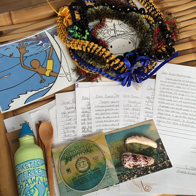 """We have been feeling the Aloha spirit from our schools visits and beach cleanups! Especially stoked on all the hand written notes from the kids, like this one from Taylor    """"Next time I go to the beach, I will pick up as many pieces of trash I find. I..."""