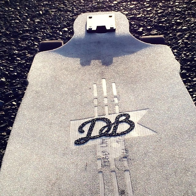 Testing out new prototypes outside the shop this afternoon. We hope everyone has a rad weekend and don't forget to stop by DBlongboards.com! longboarding #dblongboards #longboard #longboarder #goskate #vsco #vscocam #shred #happyfriday #concretewave...
