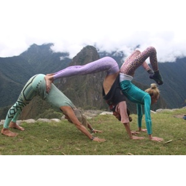 My parents @yoga_adventure are at Machu Picchu right now with @gypsetgoddess and @teekigram ...they called me on speaker phone from the high Andes the other day and I get to talk to all the shamans & families in the village I grew up in :-)...