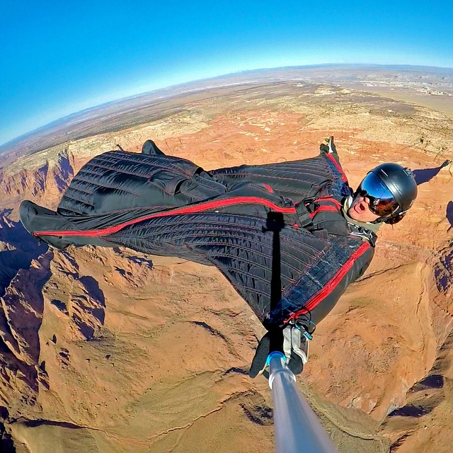 A very laid back start to the week. Photo: @savagesac GoPro HERO4 | GoPole Reach #gopro #gopole #gopolereach #wingsuit #skydiving