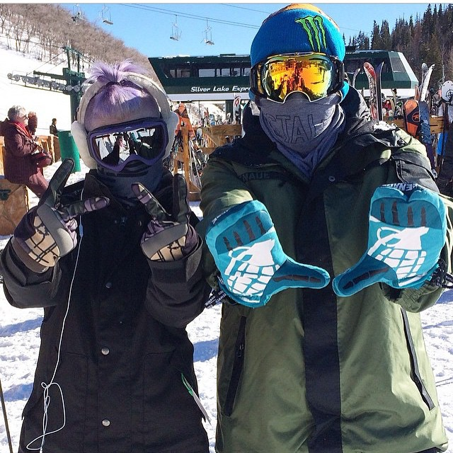 @thedingoinsnow and the Prince of Darkness's daughter herself @kellyosbourne decked in Grenade and ready to shred.