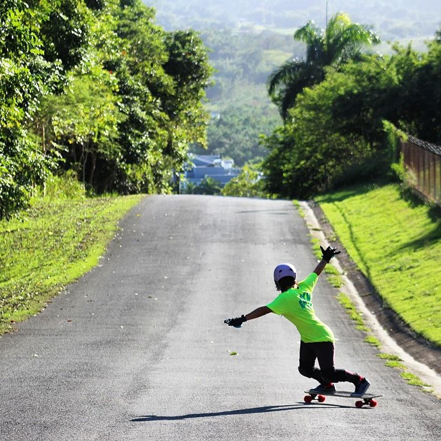 Puerto Rican ambassador @keydennise shot by @joshuanel. Here's to a rad week!  #longboardgirlscrew #girlswhoshred #keyladennise #puertorico