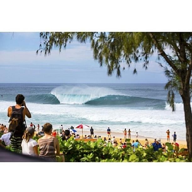 Re post de @asp, asi estaba Hawaii ayer. Hoy tenemos LAY DAY en el #pipemasters de la #vtcs. Aprovecha para ver los videos de todo lo que pasó hasta ahora en vanstriplecrownofsurfing.com