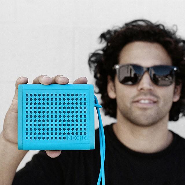 Small but mighty.  @prod84 and the Mini Blaster durable, portable speaker. #miniblaster #nixon