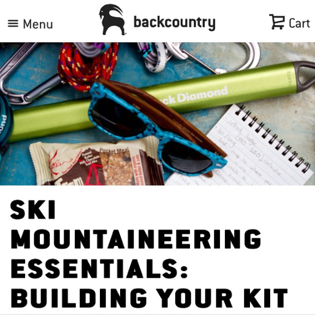 Find your ski mountaineering essentials & how to build your own kit at @backcountrycom!