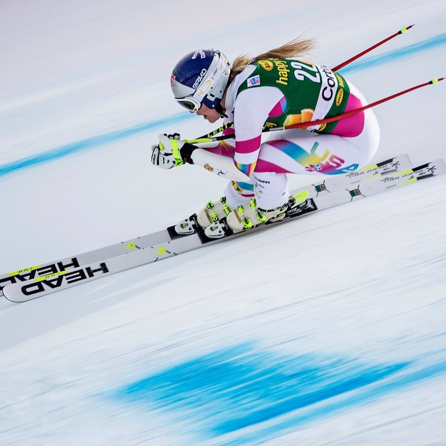 She's done it! @lindseyvonn has broken the World Cup victories record. Congrats. #LV63 #LiVeTheClimb