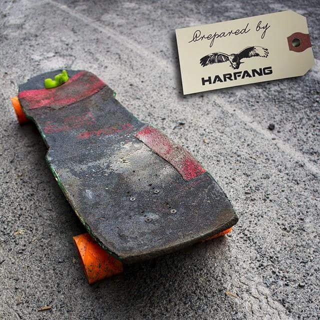 Late regram from @harfangwheels , team rider @charlesouimet 's dirty #restlessWIM after an off-road session this fall. #restlessboards
