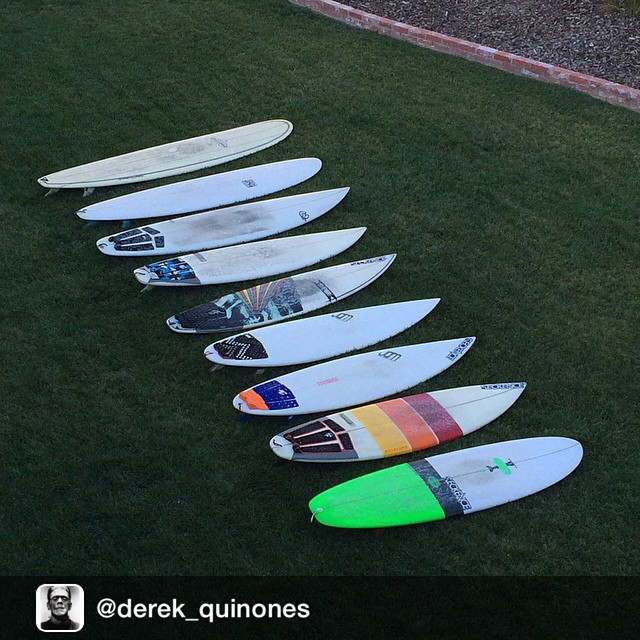 Repost from @derek_quinones via @igrepost_app, Cleaned the garage out yesterday. #surf #surfboards #boardporn #2014quiver