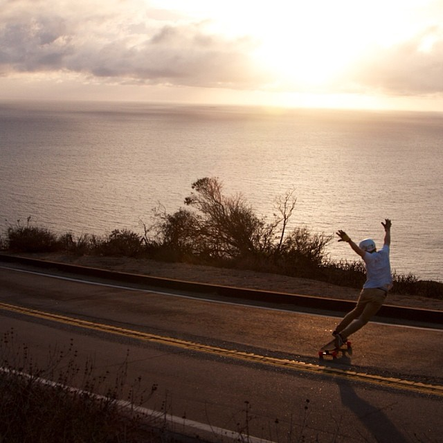 @danielfissmer in the #California #sunset. @orangatangwheels