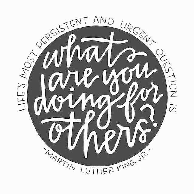 Wise words from a wise man // What are you doing for others? #MLK #mondaymantra #mondaymotivation #MLKday