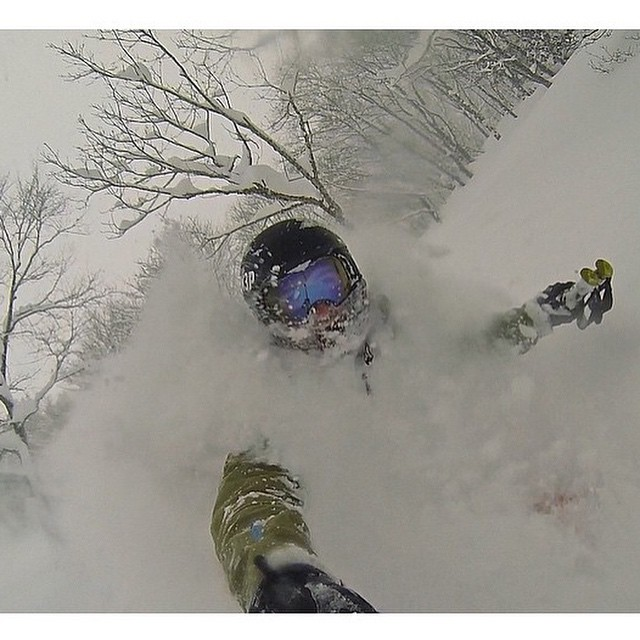 The Flylow crew continues its stay in the Japanese whiteroom.
