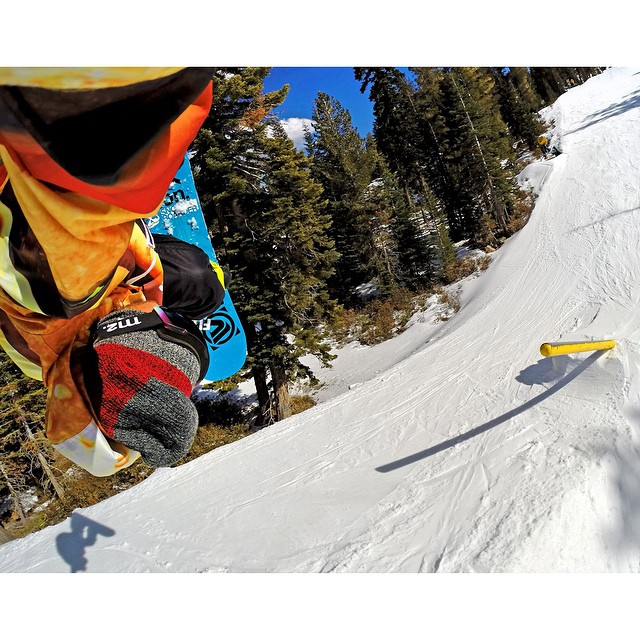 @timhumphreys pole jam to backside rodeo at @skinorthstar, California. #gopro #gopole #grenadegrip #snowboarding