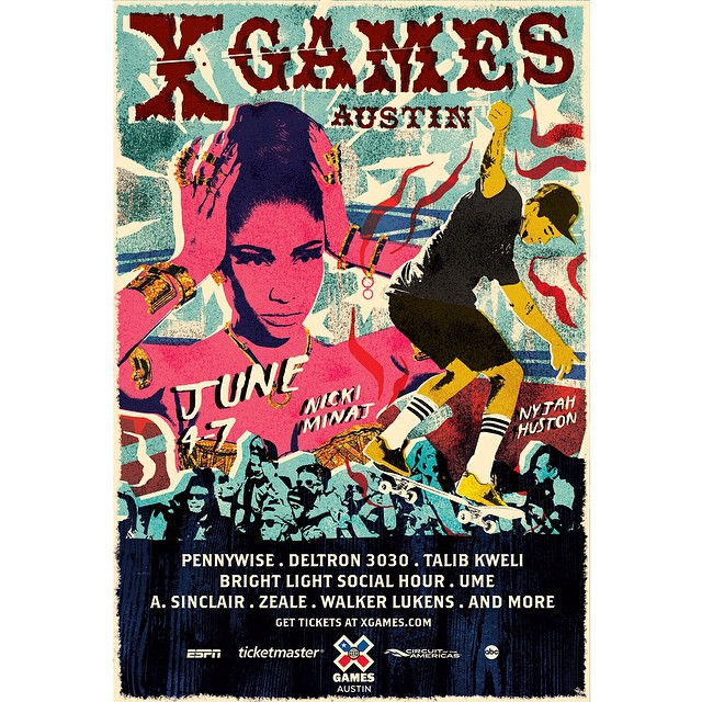 We're stoked to announce that @nickiminaj will perform at #XGames Austin, June 4-7!  Tickets will go on sale this Friday, Jan. 23.