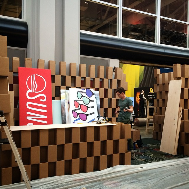 If you build the Cardboard Palace, they will come... #ORShow #OutdoorRetailer