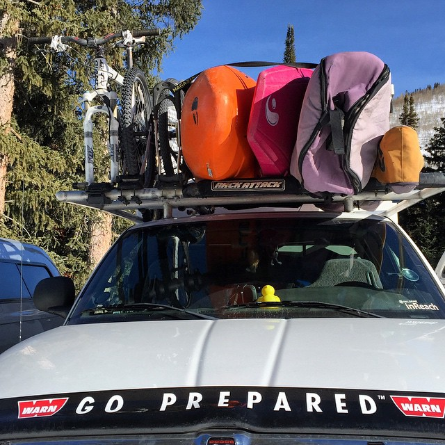 I need this #adventuremobile packed to the brim with kayaks, SUPs, Surfboards, Mountain Bikes, Skis and Snowboards! Beyond prepared for a #lifeofadventure! #explore #exploremore #adventure #wanderlust #thegreatoutdoors #goprepared #orshow