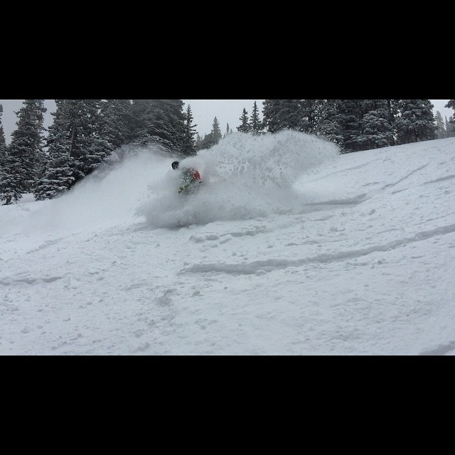 Great skiing today at Beaver Creek @capturetheactionrentals taking his trip to the Whiteroom this morning! #powturns