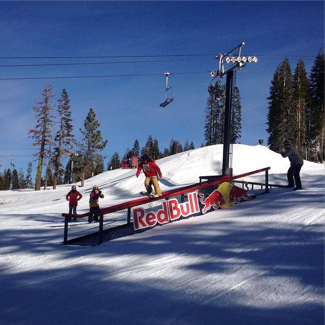 @lallylallybostonsteve @boreal #redbull #snowboard #thrivesnowboards #tahoe @irelevantmedia