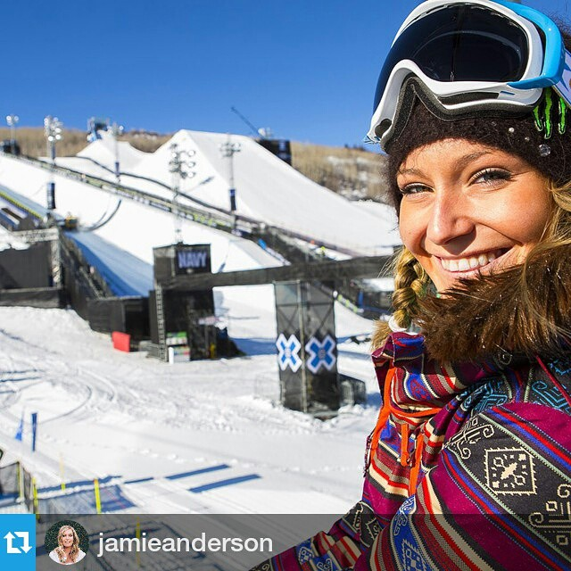 Join us at the base of Buttermilk Mountain to shred with four-time #XGames gold medalist @jamieanderson tomorrow at 1 pm MT! #InstaMeetX