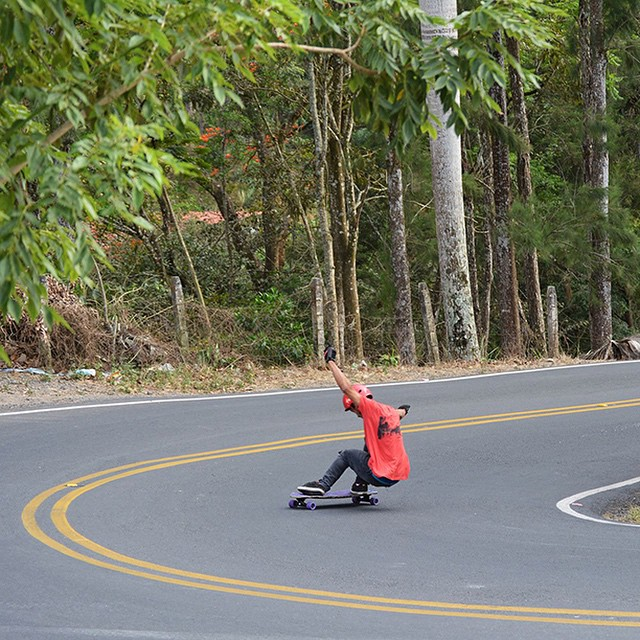 Sweet shred snap of team rider @carlosm_dmcr from Costa Rica by @fredd_dmcr! #costarica #longboard #longboarding #longboarder #dblongboards #goskate #shred #bombhills #rad #stoked #skateboard #skateboarding #golongboarding