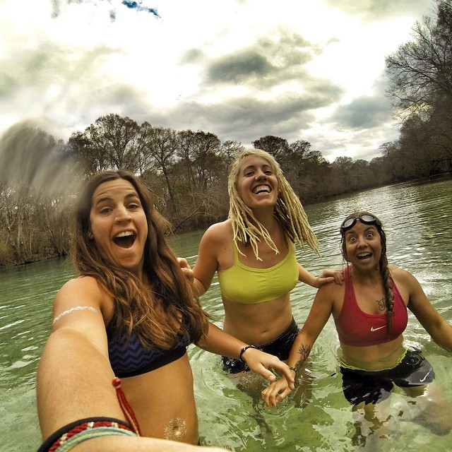 Anticipation for the cold water plunge! #neverstopexploring #bffs #roadtrip