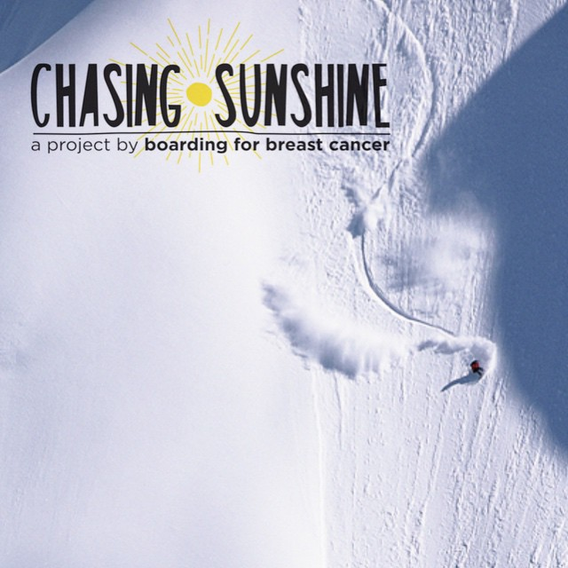 Pro-Snowboarder/Proof Ambassador, Megan Pischke, invites cameras to document her breast cancer journey as part of the Boarding for Breast Cancer (@B4BC) film Chasing Sunshine.  Chasing Sunshine will be premiering/kicking off the X-games in Aspen, CO...