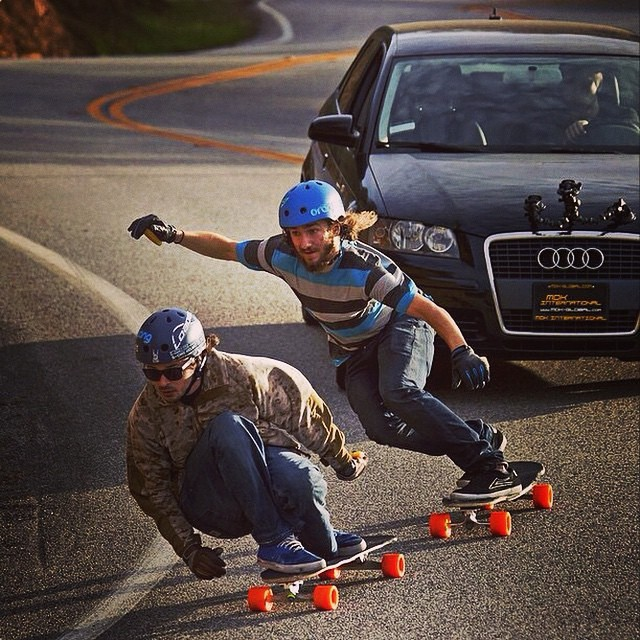 Sick shot of @esca_gnar and @kalil.hammouri rockin S1 Lifer Helmets Regram @audibr