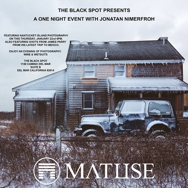 Thursday 1/22 At The Black Spot Come Join Us To Celebrate The Photography Of Jonathan Nimerfroh & James Parry. Event Starts At 6PM @jimmyjamesparry @jdnphotography #lovematuse