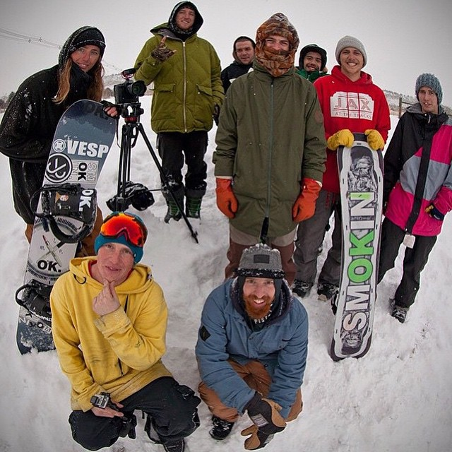 Our team got together this year with one objective - follow the snow, have a great time, and get some shots. @_swells_ @nial_romanek @matt_busedu @rakejose421 @helpthechildren and @snowboardermag