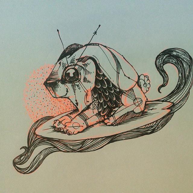 Las criaturas de Nash, nuestro artista, ilustrador, tatuador y apasionado @viktornash #TrueToThis #Volcom #VolcomArt